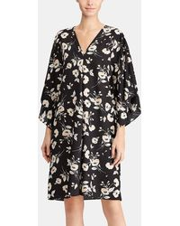 Lauren by Ralph Lauren - Short Floral Print Dress - Lyst