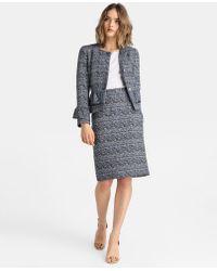 Yera - Blue Tweed Skirt - Lyst