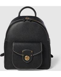 Lauren by Ralph Lauren - Wo Black Leather Backpack With Outer Pocket - Lyst