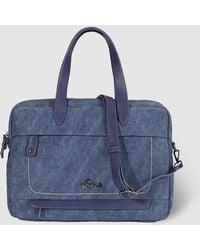 Caminatta Wo Navy Blue Briefcase With Zip