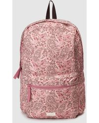 El Corte Inglés Recycled Polyester Backpack With Pink Print