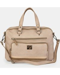 Caminatta - Taupe Briefcase With A Long Detachable Strap - Lyst