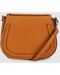 El Corte Inglés - Wo Orange Crossbody Bag With Rivets - Lyst