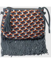 60e5de80252 Pepe Jeans - Leather Crossbody Bag With Fringe - Lyst