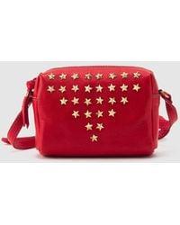 Mercules - Thunderbird Red Leather Mini Crossbody Bag With Star Appliqués - Lyst