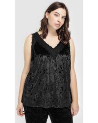 Couchel - Plus Size Velvet Camisole Top - Lyst