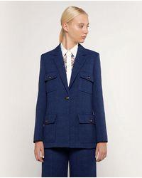 Mirto Wo Straight-cut Smart Jacket - Blue