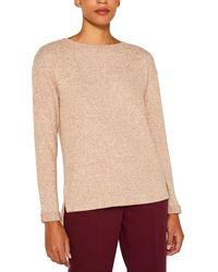 Esprit - Wo Sweater With French Sleeves And A Rounded Neckline - Lyst