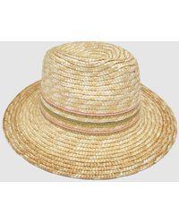 El Corte Inglés Beige Raffia Hat With Lurex - Natural