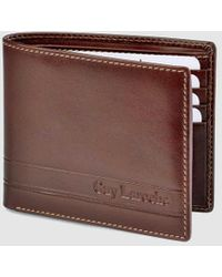 Guy Laroche Brown Leather Wallet With Embossed Brand Logo