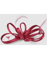 El Corte Inglés Burgundy Clip Fascinator With A Bow - Red
