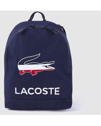 Lacoste Navy Blue Backpack With Zip