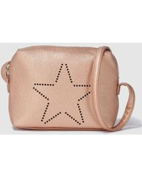 Green Coast - Wo Gold Crossbody Bag With Star Detail - Lyst