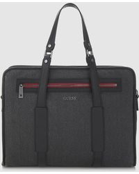 Guess - Black Zip-up Document Pouch - Lyst