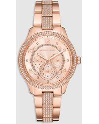 Michael Kors - Runway Mk6614 Pink Steel Watch - Lyst