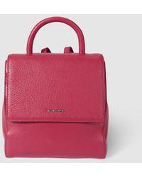 Gloria Ortiz - Fatima Dark Pink Leather Backpack With A Short Strap - Lyst