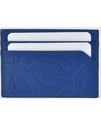 Gloria Ortiz Sofia Stamp Blue Leather Cardholder With Embellishment