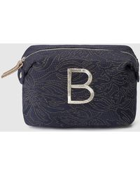 El Corte Inglés - Navy Blue Fabric Toiletry Bag With Embroidered B - Lyst