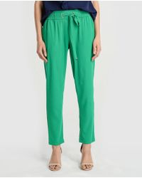 Zendra El Corte Inglés - El Corte Inglés Zendra Loose Trousers With Elastic Waistband - Lyst