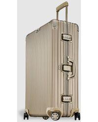RIMOWA Topas Titanium Rigid Gold 98 L Large Suitcase - Metallic