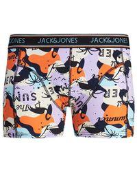 Jack & Jones Bóxer De Punto De Hombre Con Algodón BCI Naranja Estampado