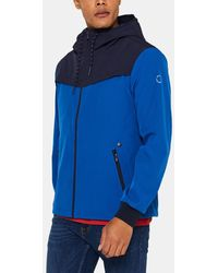Esprit Mens Blue Hooded Windcheater Jacket