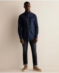 Lauren by Ralph Lauren Regular-fit Plain Blue Linen Shirt