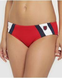38c2dc9d302b2 Tommy Hilfiger - Red Bikini Bottoms With Print - Lyst