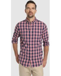 823db45401 Regular Fit Two-tone Check Print Oxford Shirt - Multicolour