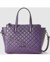 Gloria Ortiz - Simone Purple Leather Mini Handbag With Zip - Lyst