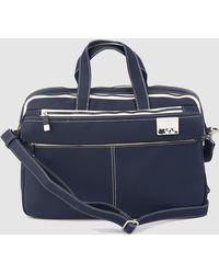 Caminatta - Navy Blue Portfolio With Double Compartment - Lyst
