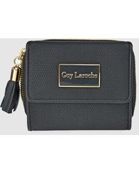 Guy Laroche - Black Mini Wallet With Two Compartments - Lyst