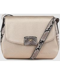 Pepe Moll - Wo Gold Crossbody Bag With Flap - Lyst