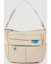 Caminatta Taupe Hobo Bag With Outer Pockets - Multicolor