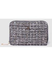 Gloria Ortiz Melissa Medium Black Tweed Wallet