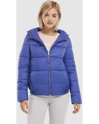 Green Coast - Short Quilted Coat With Hood - Lyst