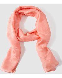 Lauren by Ralph Lauren - Orange Silk Foulard - Lyst