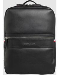 Tommy Hilfiger Black Backpack With Zip And Brand Detail