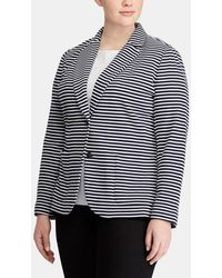 Denim & Supply Ralph Lauren | Plus Size Striped Blazer With Two Pockets | Lyst