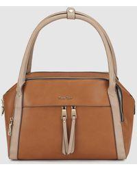 Robert Pietri - Camel Handbag With Contrasting Polished Details - Lyst
