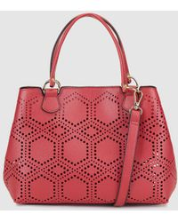 El Corte Inglés - Small Red Shopper Bag With Perforations - Lyst