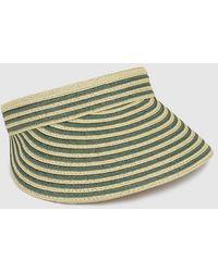 El Corte Inglés - Tan And Green Striped Visor - Lyst