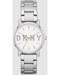 DKNY - Ny2681 Soho Steel Watch - Lyst