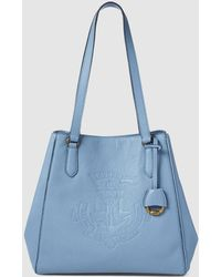 Lauren by Ralph Lauren - Light Blue Calfskin Leather Tote Bag With Magnet  Closure - Lyst 58451a0a4f