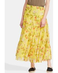 Lauren by Ralph Lauren - Long Floral Print Skirt - Lyst