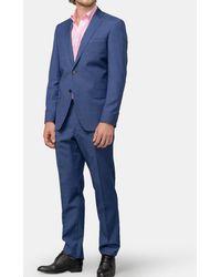 Mirto - Regular-fit Blue Micro-print Wool Suit - Lyst