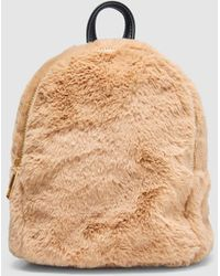 Green Coast - Camel Synthetic Fur Backpack - Lyst