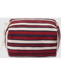 074c607611c3 Three-tone Striped Pencil Case With Zip - Red