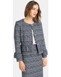 Yera - Tweed Jacket With Frills - Lyst