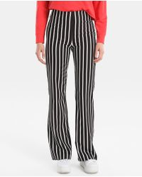 Green Coast - Striped Flared Trousers - Lyst